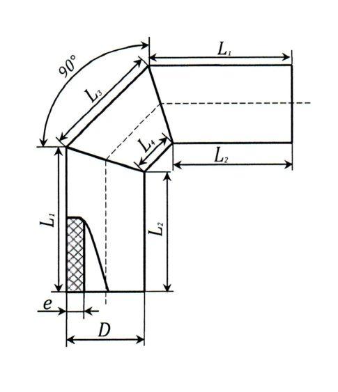 Отвод сегментный односекционный 90 градусов