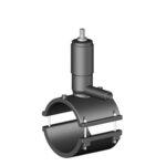 Седелка крановая электросварная с фрезой и клапаном SDR 11 - PN 16 - 21-73-16-11-75-32 - 75 - 32 - 80 - 128 - 74 - 260 - 125 - 30 - 2100