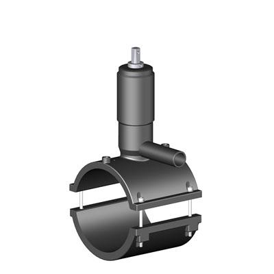 Седелка крановая электросварная с фрезой и клапаном SDR 11 - PN 16